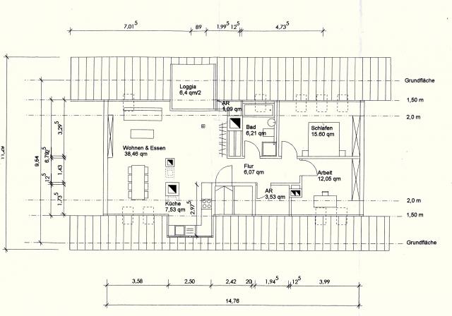 Dachgeschoss zum ausbau in 3 zimmer wohnung 93m mit for 3 zimmer wohnung nurnberg